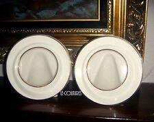 Set of 2 Lenox 24K Gold Fine Porcelain Ivory Wedding Memorable Picture Frames