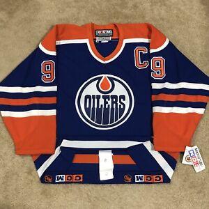 CCM Authentic Wayne Gretzky Edmonton Oilers NHL Hockey Jersey Vintage Blue 48