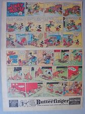 Mickey Mouse Sunday Page by Walt Disney from 12/10/1939 Tabloid Page Size