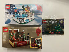 New ListingSet of 3 - Lego 40416 Ice Skating Rink | 40410 Charles Dickens | 30576 Xmas Tree