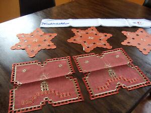 Weihnachtsdeckchen Konvolut Tischläufer
