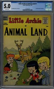 LITTLE ARCHIE IN ANIMAL LAND #1 CGC 5.0 OFF-WHITE PAGES 1957