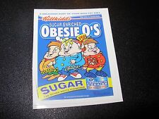 """RON ENGLISH POPAGANDA Cereal Obesie O's 2.5"""" Sticker decal frm poster art print"""