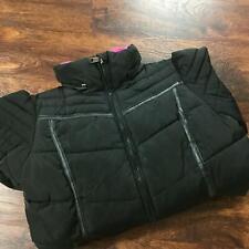 STEVE MADDEN Full Zip Up Black Insulated Puffer Jacket Girl's Size M 10-12
