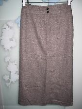 Ladies Black & White Wool & Silk Skirt UK Size 12 Suit 10-12