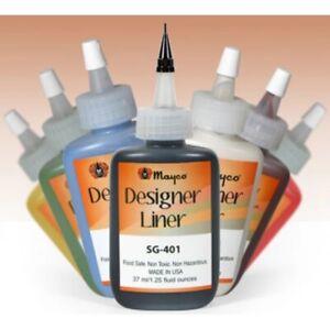 Mayco Designer Liner Glaze (1.25 oz.) ASSORTMENT  Painting Ceramics Supplies