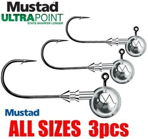 Jig Heads Mustad Classic 3pcs UltraPoint Predator Tackle Soft Lure Pike Perch UK