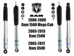 Bilstein B8 5100 Front Rear Shocks For 06-08 Ram 1500 03-13 2500/3500 4WD Trucks