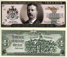 President Theodore Roosevelt Million Dollar Novelty Money