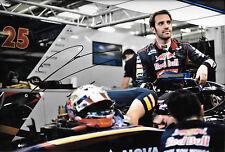 Jean Eric Vergne firmato 12x8, F1 TORO ROSSO Ritratto. SPAGNOLO GP 2013