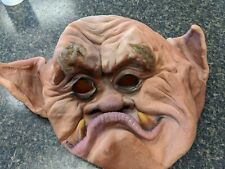 Vintage 1989 Latex Mask Halloween Scary Man Full Head Distortions Unlimited