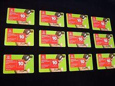12 ricariche telefoniche serie Vodafone Live! - tutte differenti