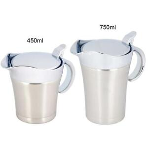 304 Stainless Steel Thermal Insulated Double Wall Sauce Gravy Boat Household