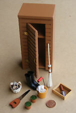 1:12 Scale Garden Potting Shed & Tools Dolls House Miniature Flower Accessory
