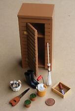 1:12 Scale Jardín Potting Shed & Herramientas Casa de muñecas en miniatura Flores Accesorios