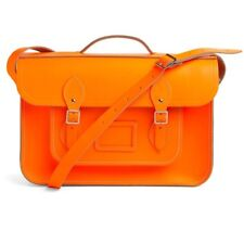 "Cambridge Satchel Company Batchel - Neon Orange - 15"" - Great Cond - Orig. $255"