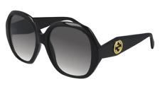 Neues AngebotGucci Sonnenbrille GG0796S  001 Schwarz - Grau - Frau