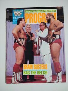 WWF Wrestling Program Magazine #172 Brain Busters Haku WWE 1989
