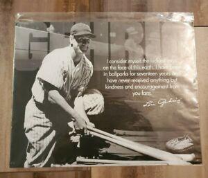 New York Yankees Lou Gehrig Luckiest Man Tin Metal Reproduction DE Sign #1531
