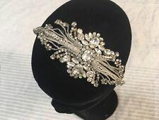 Jenny Packham headband silver crystal floral embellished beaded bridal party