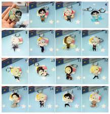 16pcs/set New Anime YURI on ICE Victor Nikiforov Katsuki Yuri Plisetsk keychain