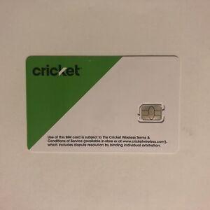 New Cricket Sim Card Prepaid Nano