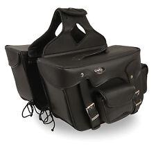 """Motorcycle Waterproof Saddle Bags Rivets Harley Bike List Below - 16 x 11 x 6"""""""