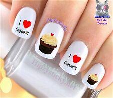"RTG Set#510 IMAGE ""Cupcake 2 I Love"" WaterSlide Decals Nail Art Transfers Salon"