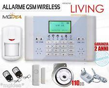 ALLARME WIRELESS GSM LIVING ANTIFURTO SIRENA INTERNA POTENTE CASA UFFICIO NEGOZI
