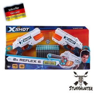 X Shot 2x Reflex 6 Set Zuru mit 16 Pfeilen Trommelrevolver Nerf NEU OVP