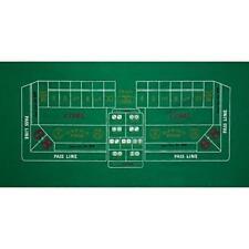 "36"" x 72"" Green Craps Casino Gaming Table Felt Layout Mat"