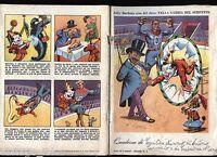 Quaderno vintage - Jolly Durbans eroe del circo n. 2 - Cartiere Binda 1954