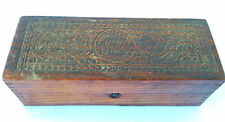 Antique Wheeler & Wilson sewing machines ornate wooden box Advertising