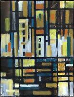Chudinovskikh Russischer Expressionist Öl Leinwand Abstrakt 62x48 cm