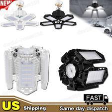 60W - 100W LED Garage Light Bulb Deformable Ceiling Fixture Lights Workshop Lamp
