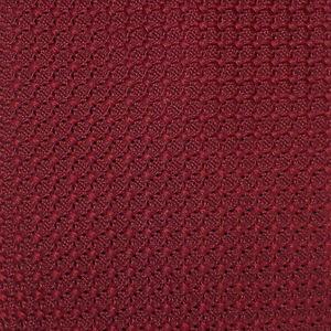 DORMEUIL Men's Burgundy SOLID Woven Silk GRENADINE Silk Tie France EUC