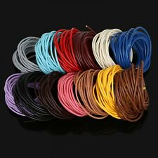 Genuine Leather Cords Round Rope String For Jewelry Making Accessories