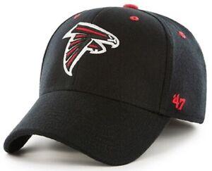 Atlanta Falcons NFL '47 Kickoff Contender Black Hat Cap Flex Stretch Fit L/XL