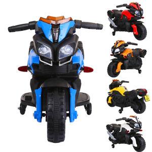 Kids 6V Battery Motorbike Motorcycle Motocross Bike Ride On Car White
