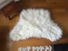 Pottery Barn TEEN Cozy Lounge Around Pillow Cover~Faux Fur white~IVORY