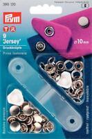 Prym Nähfrei-Druckknöpfe + Werkzeug 10mm silberfarbig 9 St Jersey Kappe  390120