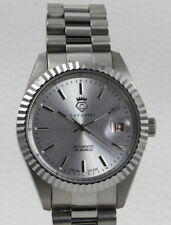 Cavadini Automatic Watch Leonardo CV-334, Caliber Felsa Swiss Made, Steel Silver