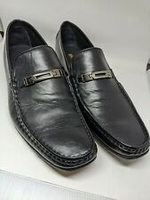 Men's Broletto Black Leather Loafers Size US9.5 - Made in Italy