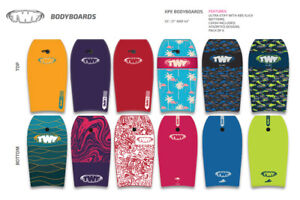 TWF XPE PRO Slick back Kids & Adult Bodyboard with FREE leash - 2021 STOCK
