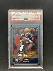 2003 Topps Chrome Tom Brady #148 PSA 10