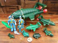 Thunderbirds Bundle of Vintage Thunderbird 2 and Virgil Tracy Toys