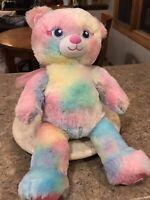 "Build A Bear Beary Fairy Friends Plush Stuffed Animal Pastel Tie Dye 16"" BABW"