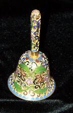 "4"" Floral Enamel Modern Cloisonne-Look Bell - Chinese *Estate Hoard*"