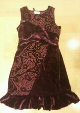 Girl's Pretty Party Dress Velvet Velour GEORGE Size 8