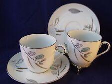 Vintage Noritake 1358 2 Breakfast Coffee Cup & Saucer Sets 1955 Japan Retro Mugs